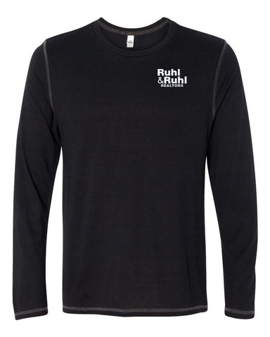 Ruhl & Ruhl Long Sleeve Triblend T-Shirt Mens