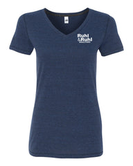 Ruhl & Ruhl Triblend V-neck T-Shirt Ladies