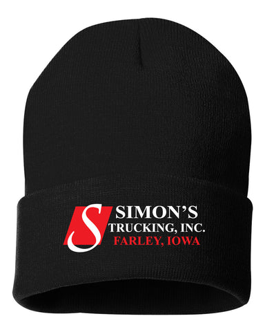 Simon's Trucking Solid Knit Beanie