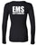 Guttenberg Municipal Hospital EMS - Sheer Mini Rib Long Sleeve V-Neck T-Shirt - SCREEN PRINT - (Ladies) - 8750
