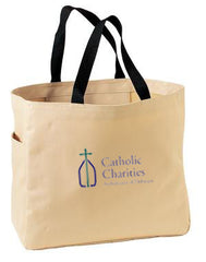 Catholic Charities Port & Company Essential Tote B0750, Stone