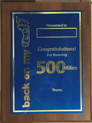 500 Mile Club Plaque