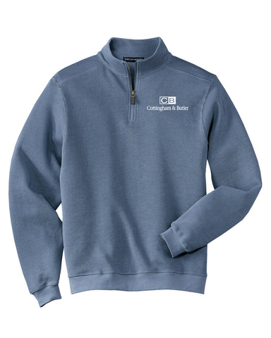 C&B Port Authority Flatback Rib 1/4-Zip (Mens)