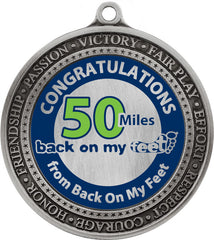 Back on My Feet 50 Miles Medal