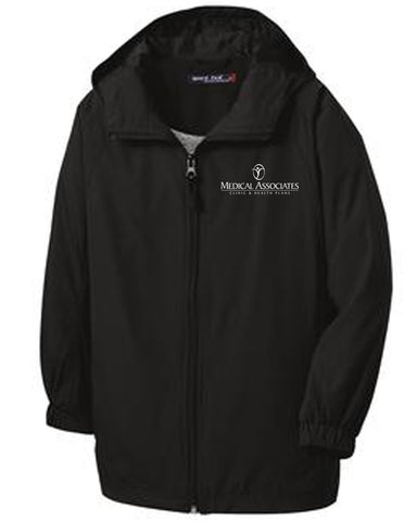 Medical Assoc. Sport-Tek® Hooded Raglan Wind Jacket (Men's)
