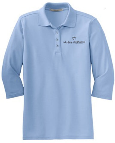 Medical Assoc. Port Authority® Ladies Silk Touch™ 3/4-Sleeve Polo.