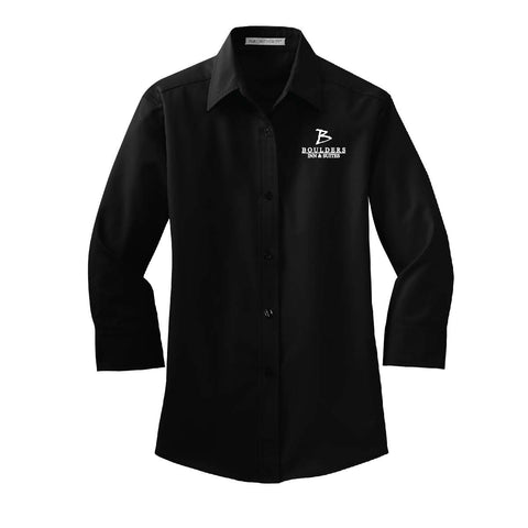 Boulders Inn & Suites Port Authority 3/4-Sleeve Easy Care Shirt