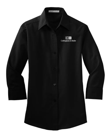 Cottingham & Butler 3/4-Sleeve Easy Care Shirt