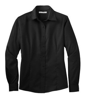 DuTrac Port Authority Long Sleeve Non-Iron Twill Shirt (Ladies)