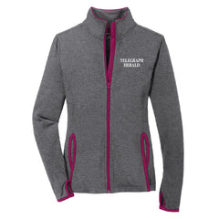 TH Media Sport-Tek Ladies Sport-Wick® Stretch Contrast Full-Zip Jacket (Ladies) - LST853