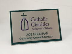 Catholic Charities Name Badge