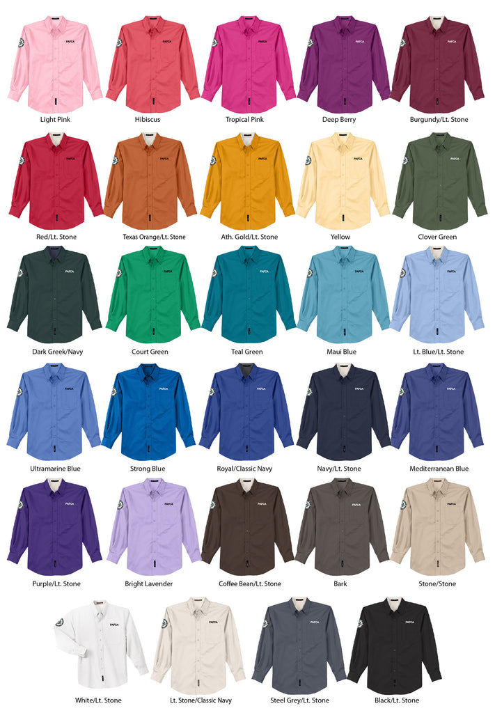 Pafca Port Authority Long Sleeve Easy Care Shirt Mens