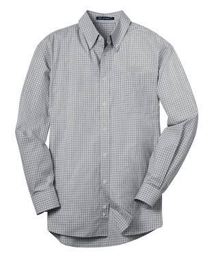 DuTrac Port Authority Plaid Pattern Easy Care Shirt (Men's)