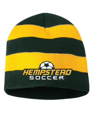 Hempstead Soccer Rugby Striped Knit Beanie