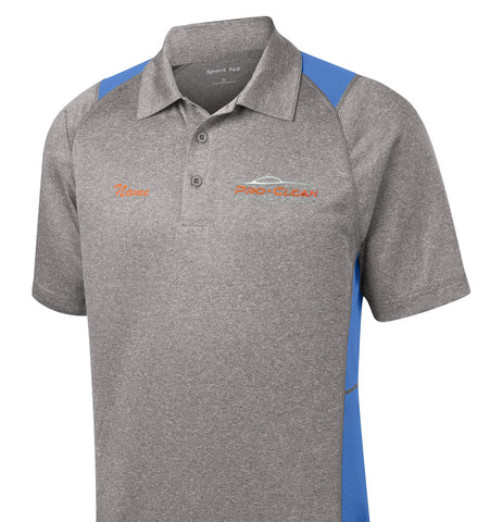 Pro-Clean Sport-Tek Heather Colorblock Contender Polo (for cashiers)