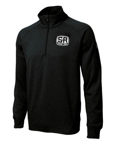 S&R Men's Fitness 1/4 Zip Dri-Fit (Black)