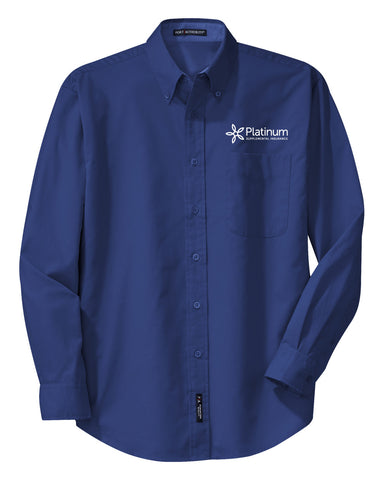 Platinum Port Authority Long Sleeve Easy Care Shirt ( Men's Tall)