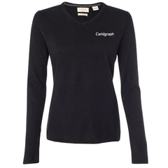 Cartegraph Weatherproof Vintage Ladies Cotton Cashmere V-Neck Sweater
