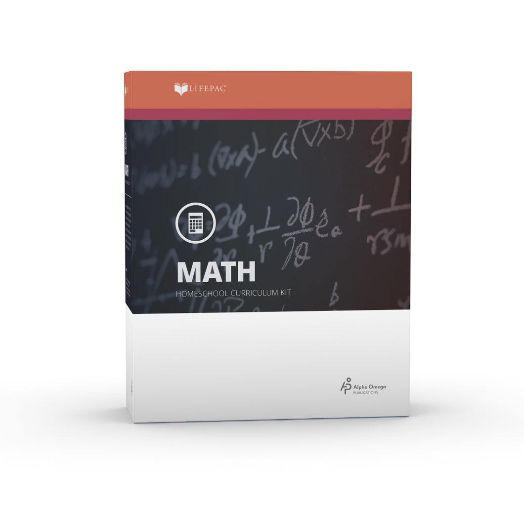 Lifepac Algebra I 9th Grade Complete Set