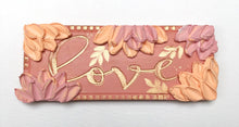 Pink Love Wood with Flowers