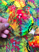 Red Holographic Sunflower