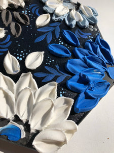Black and Blue Florals