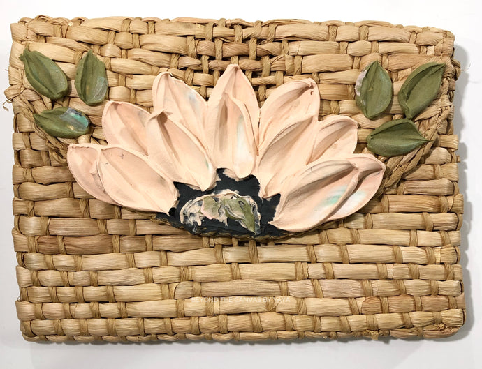 Basket Clutch (Pastel Peach/Pink)