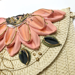 Pastel Pink and Gold Floral (clutch/purse)