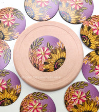 Purple and Pink Sunflower Magnet