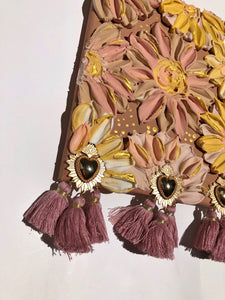Pink and Yellow Florals with Tassels