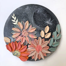 Moon and Coral with Pastels Gold and Glitter