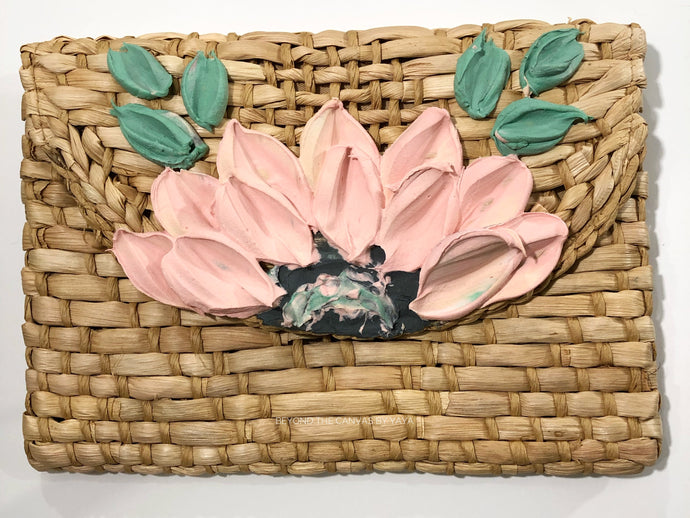 Basket Clutch (Pastel Pink)