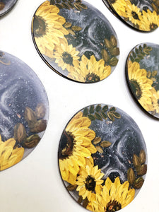 Moon Sunflowers Magnet