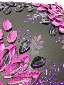 Black and Purple with Glitter