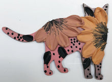 Pink and Coral Cat (wood)