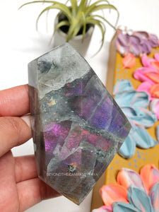Rare Collaboration: Rare Purple and Pink Flash Labradorite Freeform