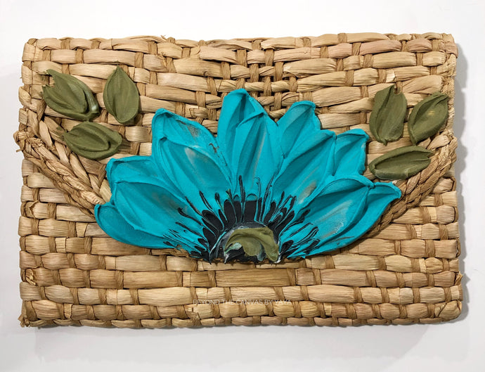 Basket Clutch (Blue Floral)