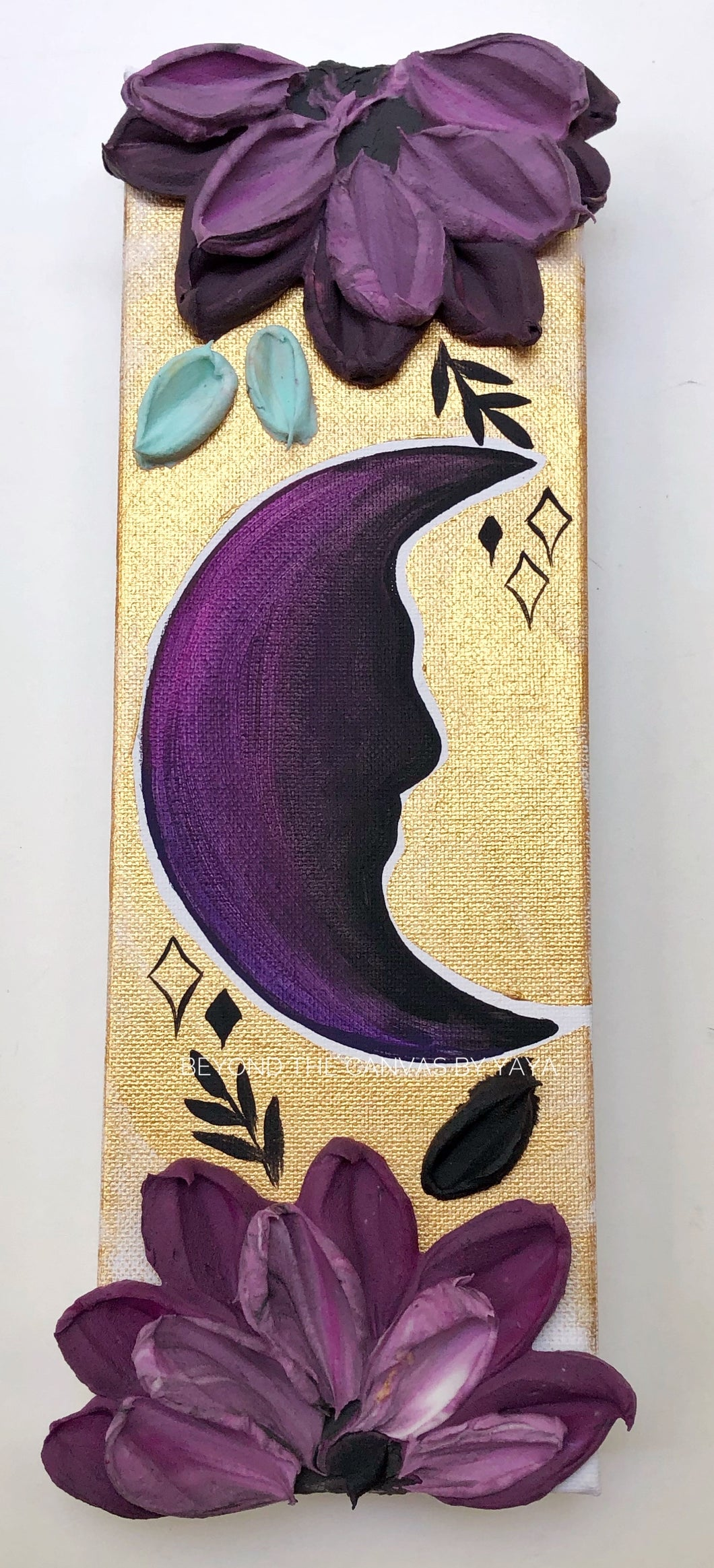 Purple and Gold Moon