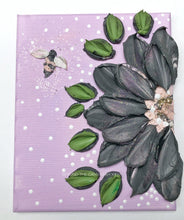 Lilac and Black Floral with Glitter