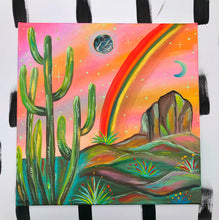 Desert Rainbows Colorful Painting
