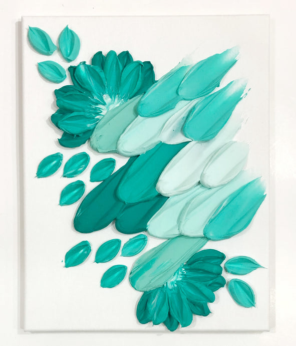 Turquoise abstract (Orig: $170)