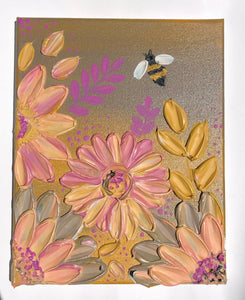Gray and Pink Bee