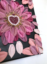 Black and Pink Florals with beaded heart