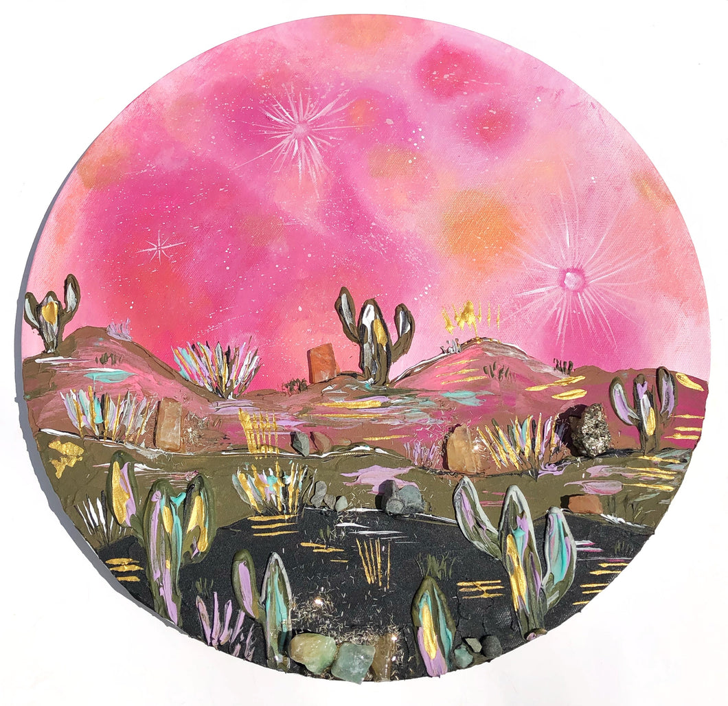 Pink moon and Abundance (Lots of crystals)