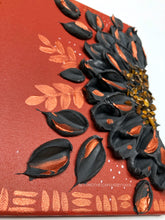 Rusty Black Flower with Tiger Eye Crystals