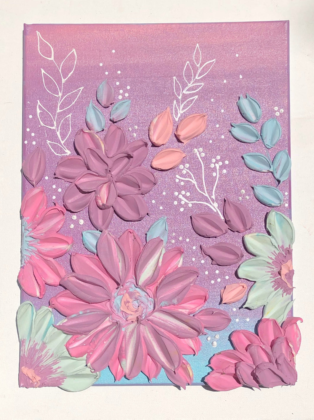 Pastel Pink, Blue and Purple Florals