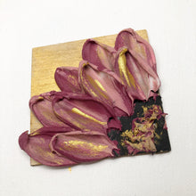 Pink and Gold Wood Magnet