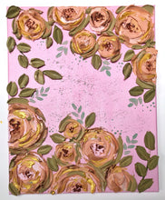 Pink, Mustard and Gold Peonies