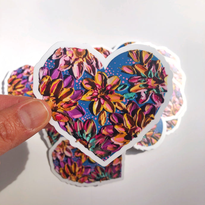 Colorful Heart Sticker