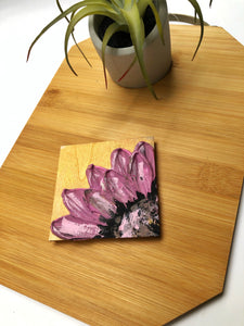 Abstract Purple Floral Magnet